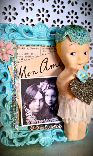Doll Frame Assemblage
