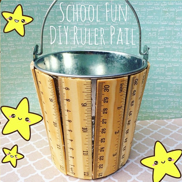 DIY Ruler Pail