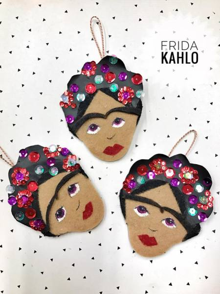 DIY Frida Kahlo Ornaments