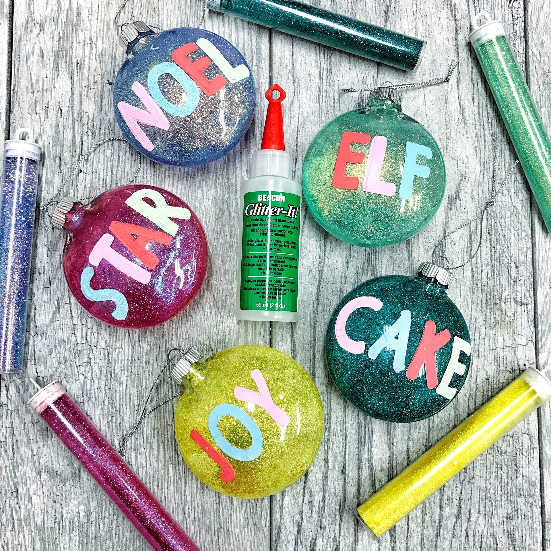 DIY Glitter It Ornaments
