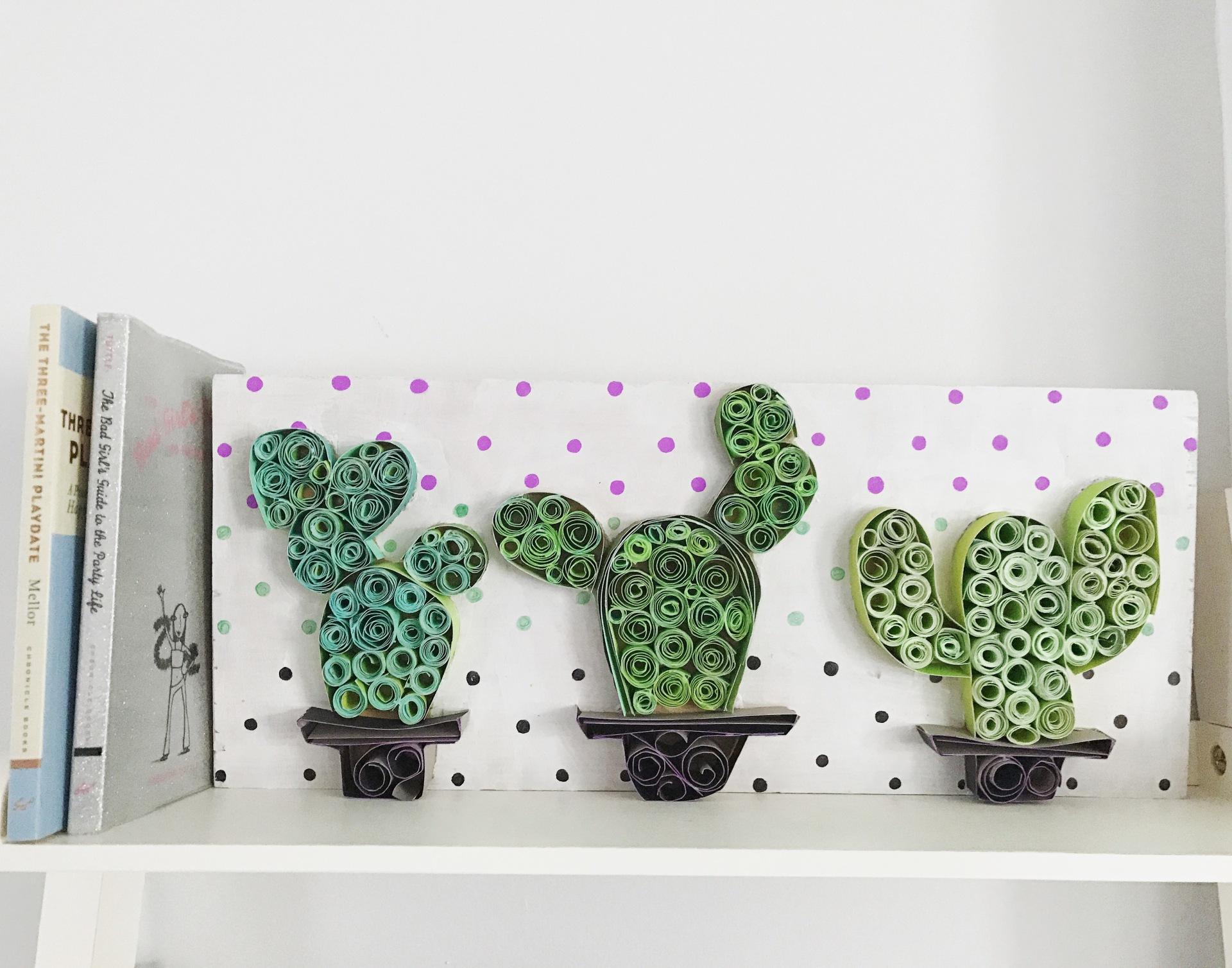 Quilled Cactus Art