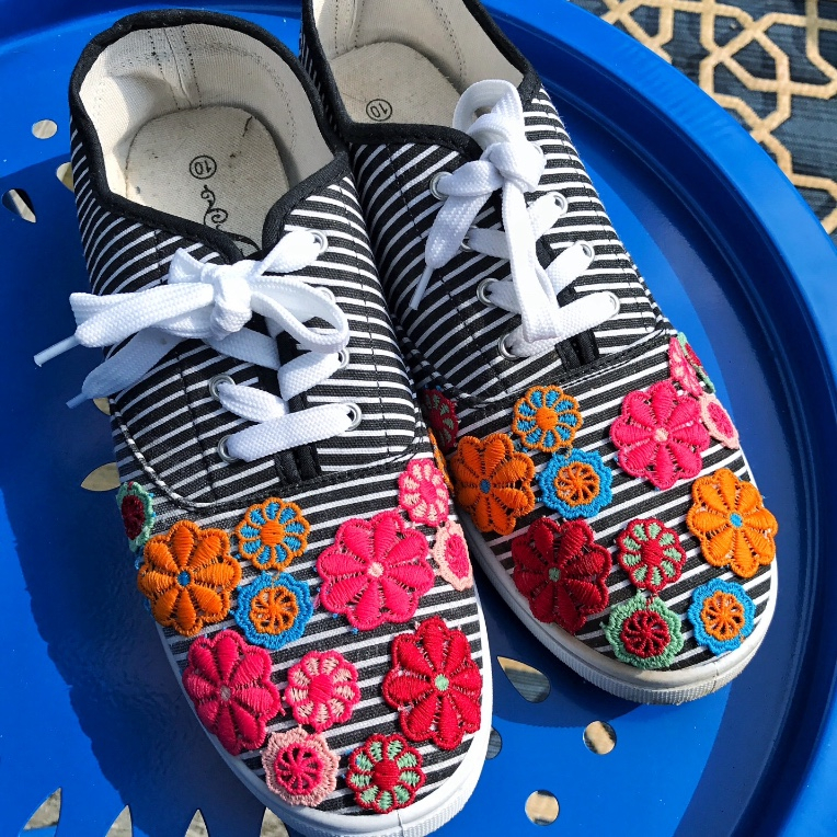 DIY Boho Sneakers