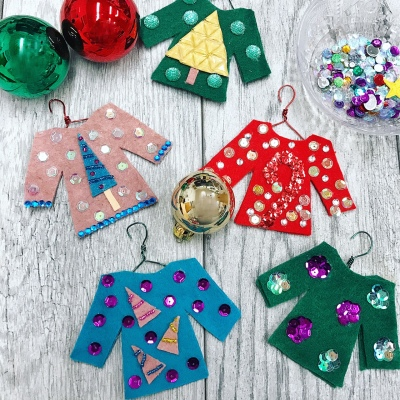 DIY Ugly Sweater Ornaments