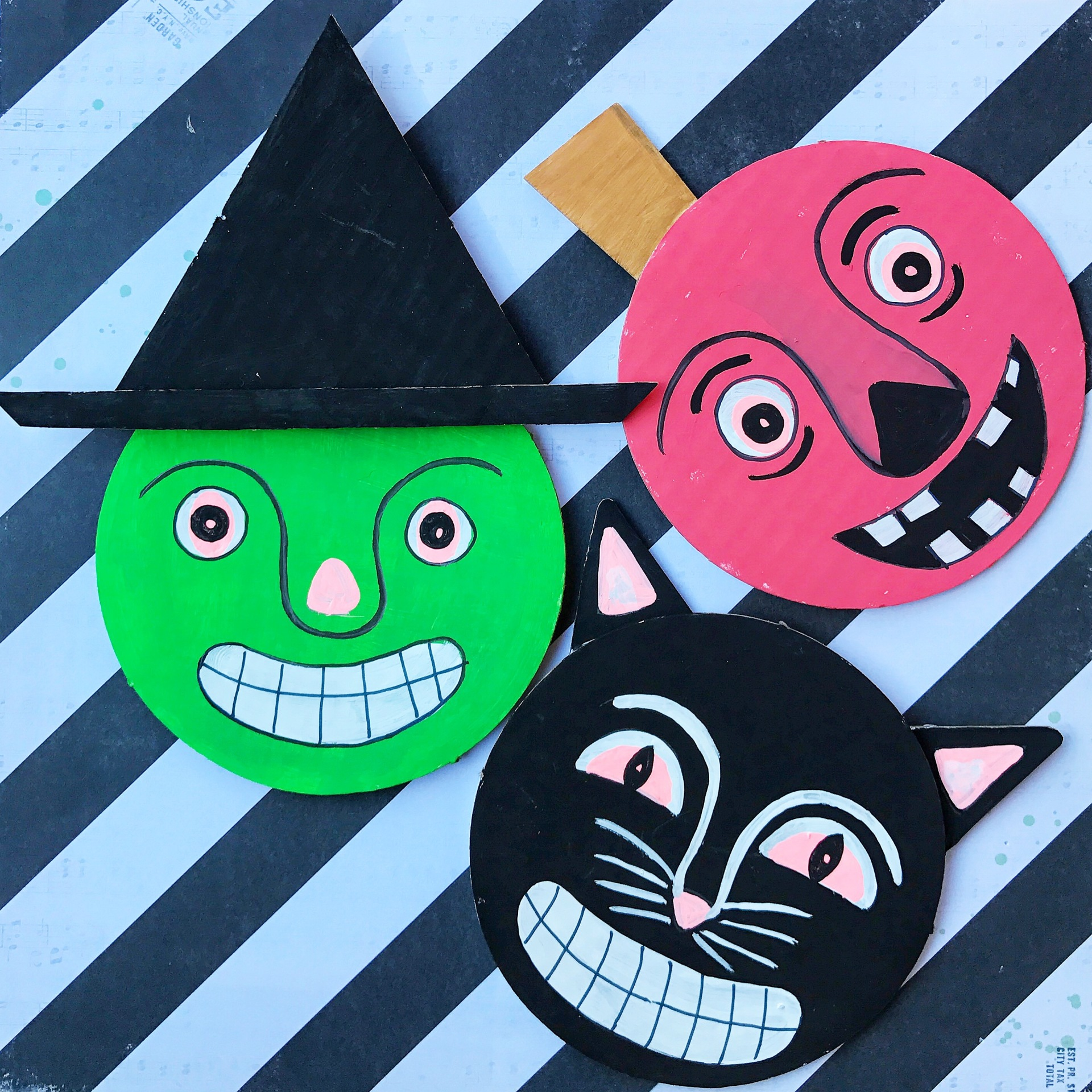 Corrugated Halloween Magnets
