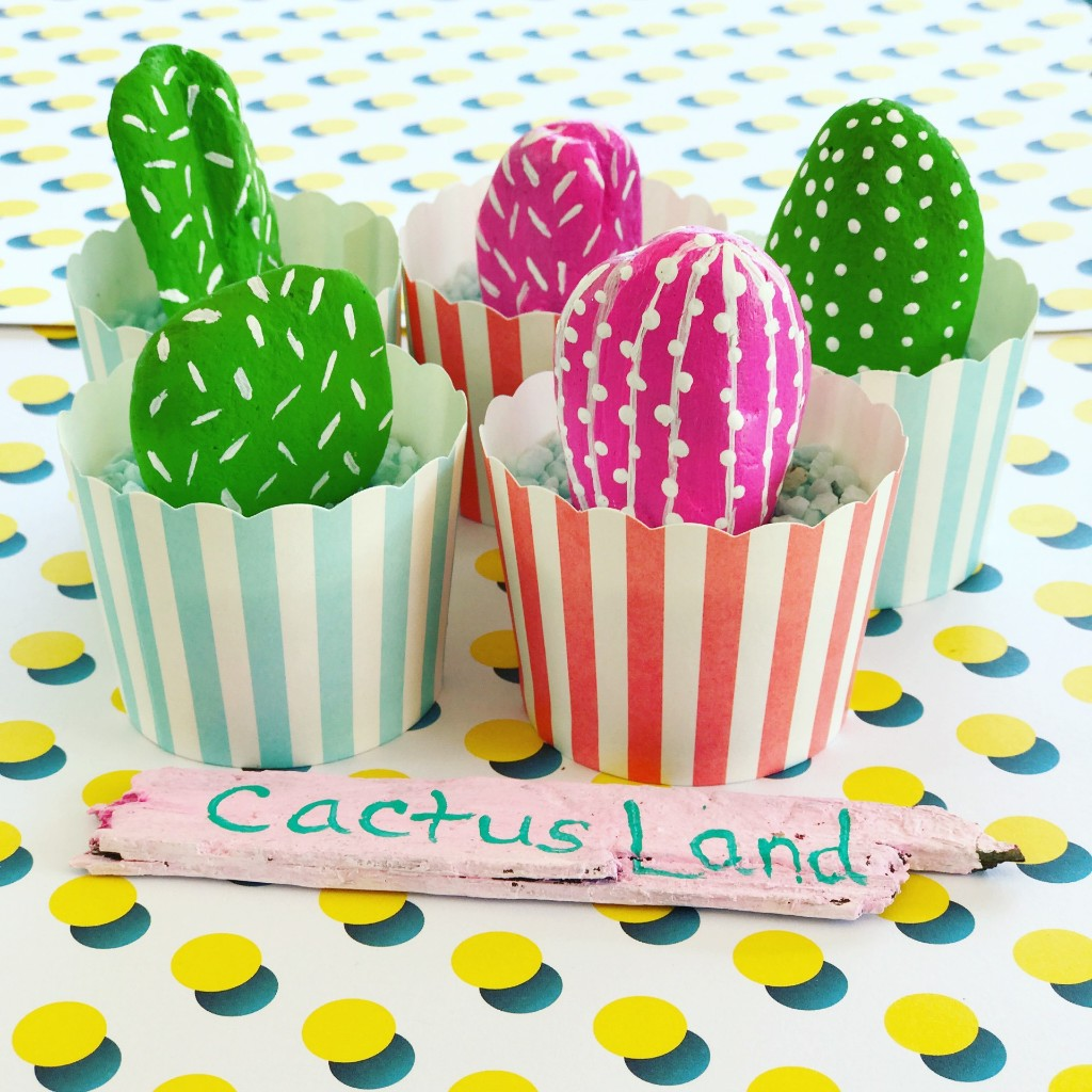 DIY Cactus Rocks