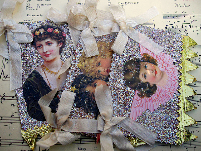 DIY Vintage Dresden Ornaments
