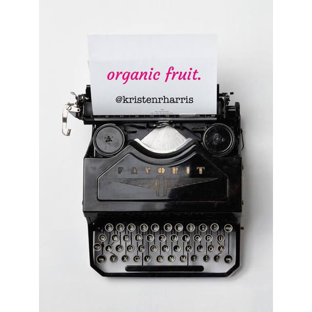 #TwoWords Organic Fruit