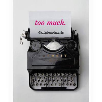 #TwoWords Too Much
