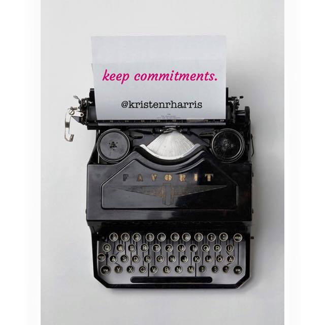 #TwoWords Keep Commitments