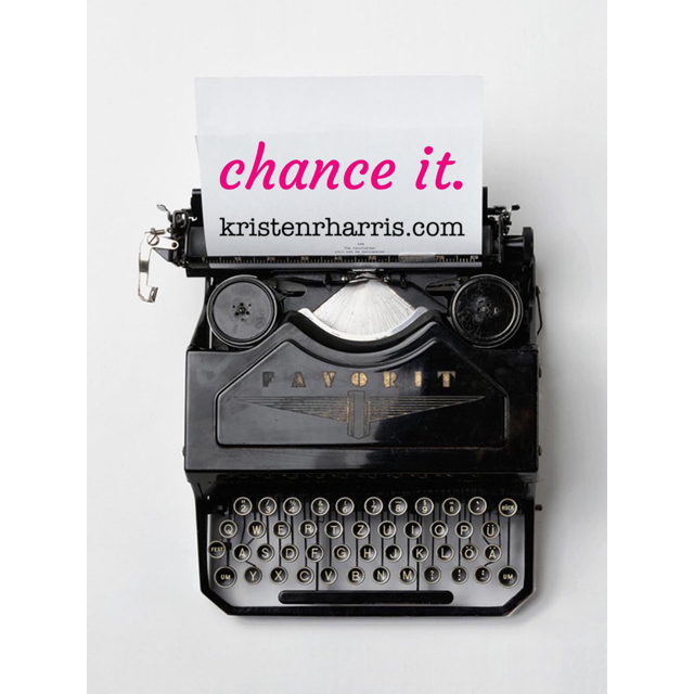 #TwoWords: CHANCE IT