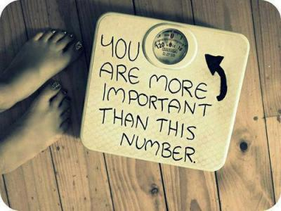 STOP WEIGHING YOURSELF