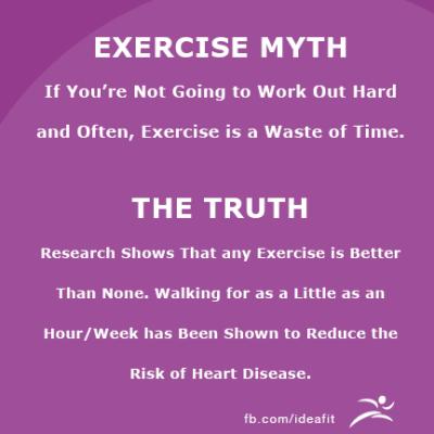EXERCISE MYTHS VS THE TRUTH