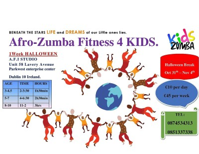 VALENTINE AFRO ZUMBA FITNESS FOR KIDS & TEEN