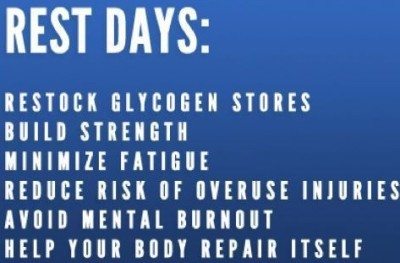 GIVE IT A REST... REST DAY IS VITALLY NECESSARY
