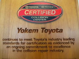 Toyota/Scion Certified Center