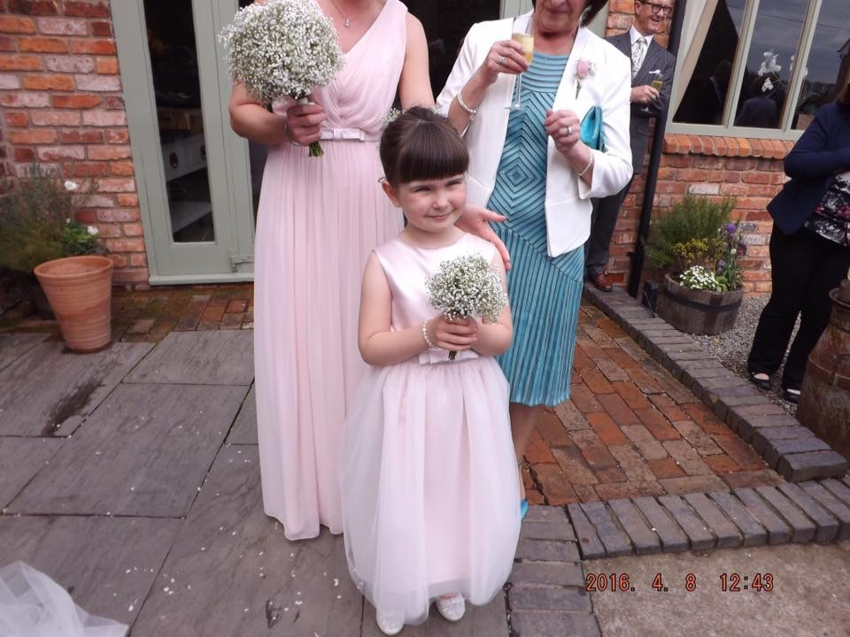 Hand made flower girls in store
