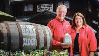 Fly Creek Cider Mill, Cooperstown NY, Bill and Brenda Michaels