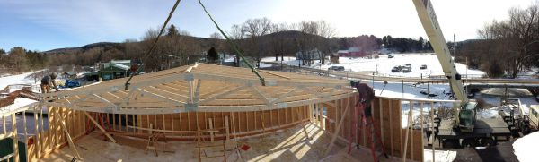 Truss Installation at Fly Creek Cider Mill, Cooperstown NY