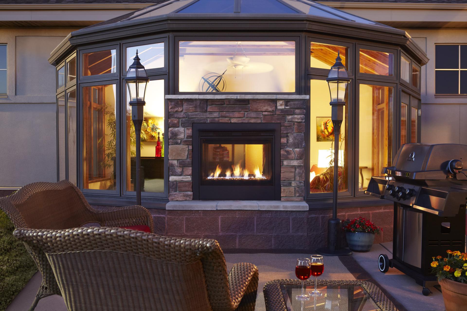 Heat n Glo See-Thru Indoor/Outdoor Fireplace