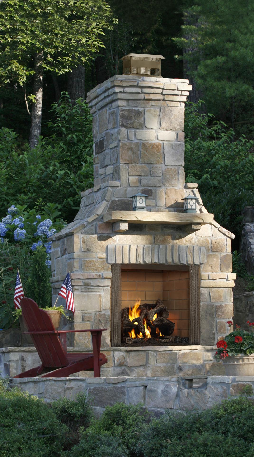 Heat n Glo Outdoor Carolina Wood Fireplace