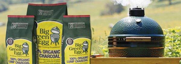 Big Green Egg and Organic Lump Charcoal