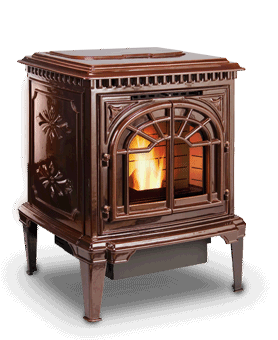 St. Croix Element Pellet Stove in Brown Enamel