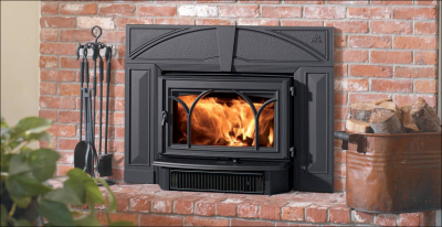 Jotul C 450 Kennebec Wood Insert with Cast Iron Surround