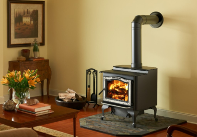 Harman TL2.6 Top and Side Loading Wood Stove with Brushed Stainless Trim