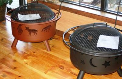 Landmann Wood Burning Firepits in Black or Clay