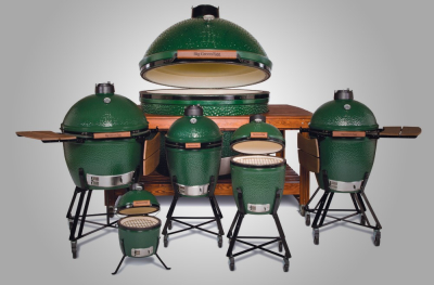 Big Green Egg XXL, Big Green XL, Big Green Egg Large, Big Green Egg Medium, Big Green Egg Small, Big Green Egg Mini-max, Big Green Egg Mini
