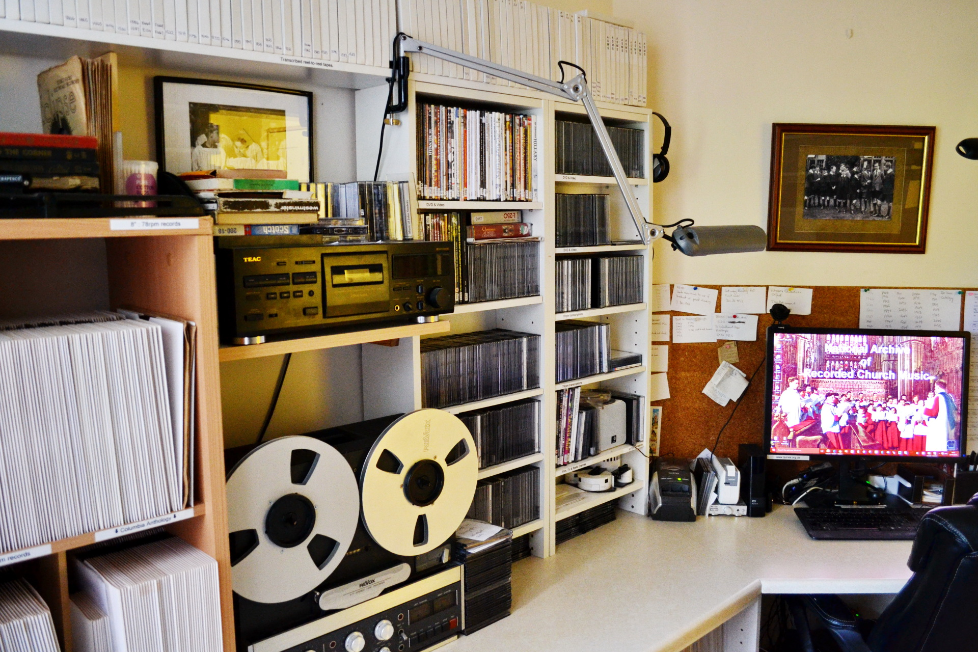 78s, reel-to-reel tapes & TV broadcasts