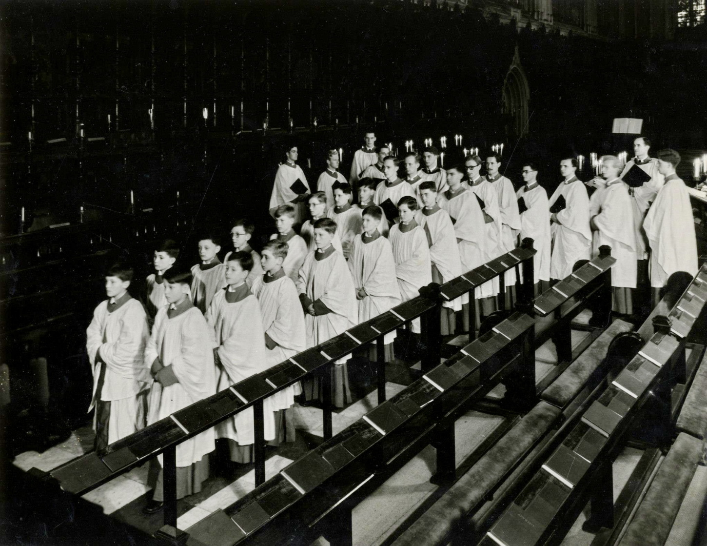 Choir in the same  year the recording was made, 1956
