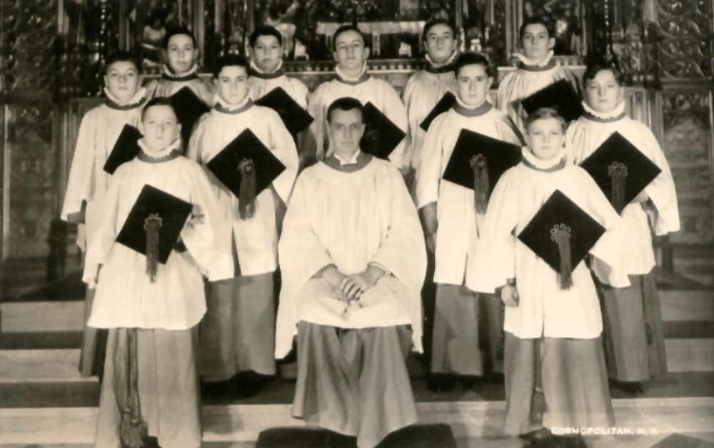 A group of choristers from the London Choir School