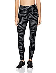 Women's Maze Print High Waist Curved Mesh Full Length Tight