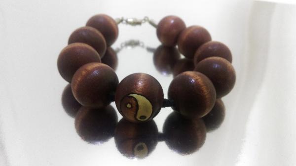 Yin-Yang Wood Bracelet (3/4-inch)
