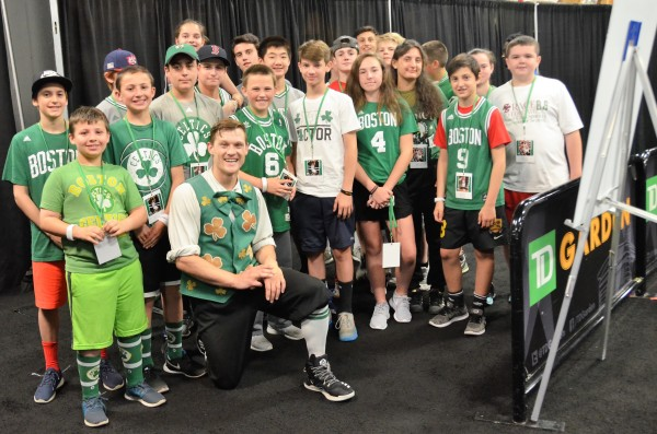 Boston Community Collaborative Coordinates On Court Experience for Kids at Celtics/Cavs Game 1