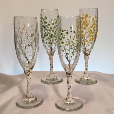 Champagne Glasses Set