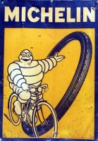 Michelin metal sign