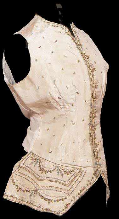 1770s Silk embroidered lady´s waistcoat