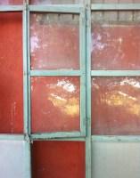 Industrial glass and metal door