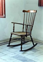 Vintage iron patio chairs
