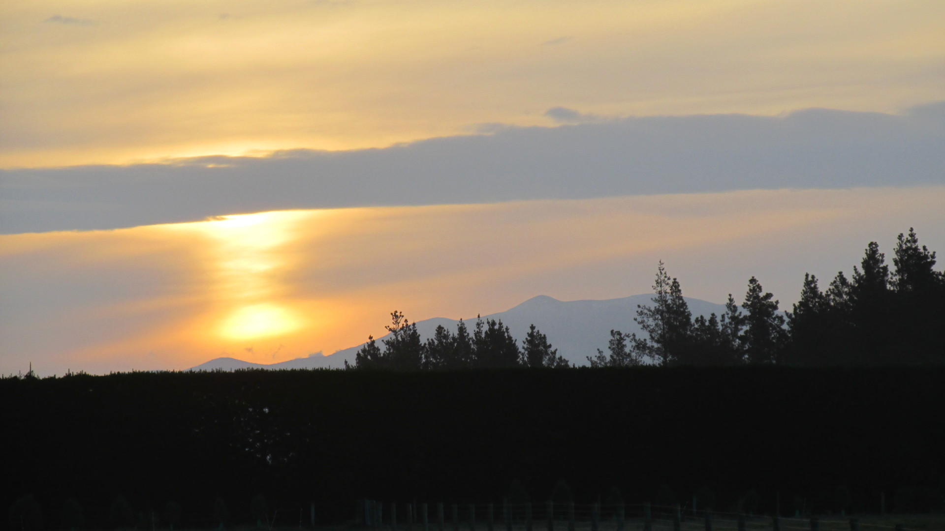 Sunset Over The Alps - Eyreview Retreat