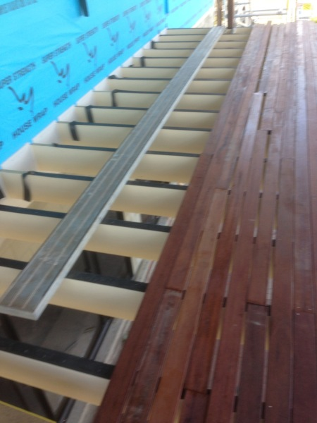 new timber deck under construction