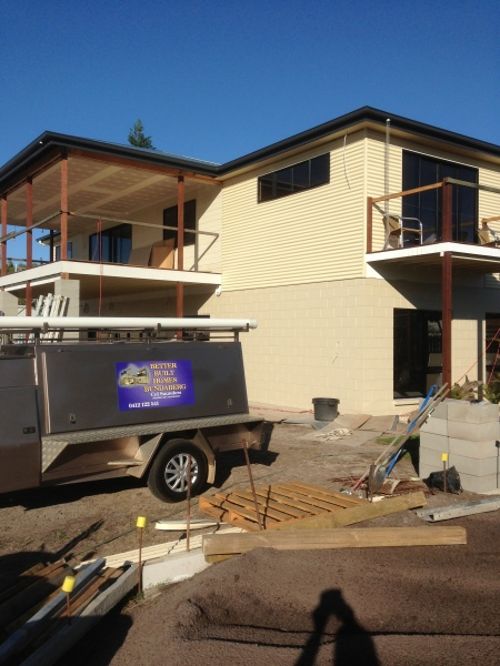 new home exterior nearing completion