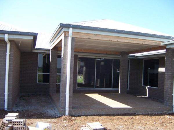 New home exterior finished and ready for interior work to commence