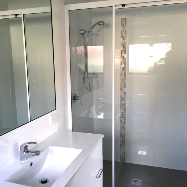 New bathroom completed by Better Built Homes Bundaberg