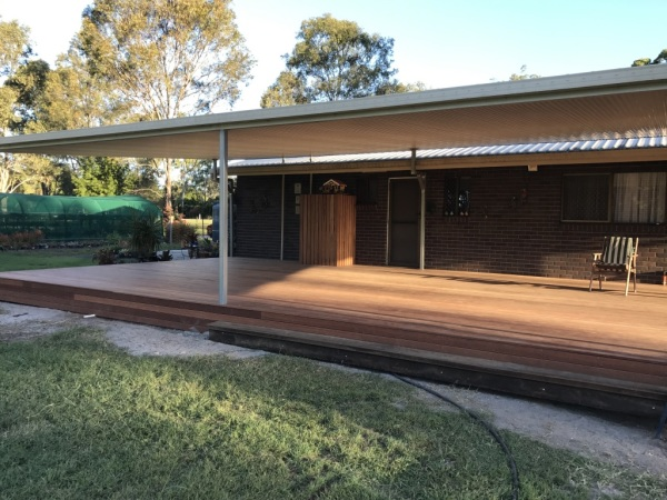 New timber deck added to existing home