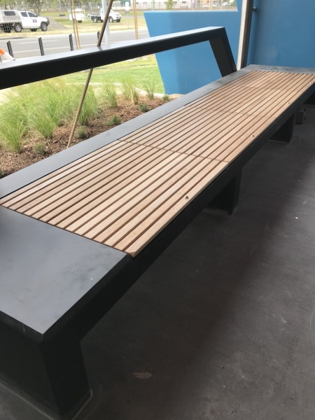New timber bench seat
