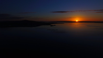 Orkney sun set from the sky