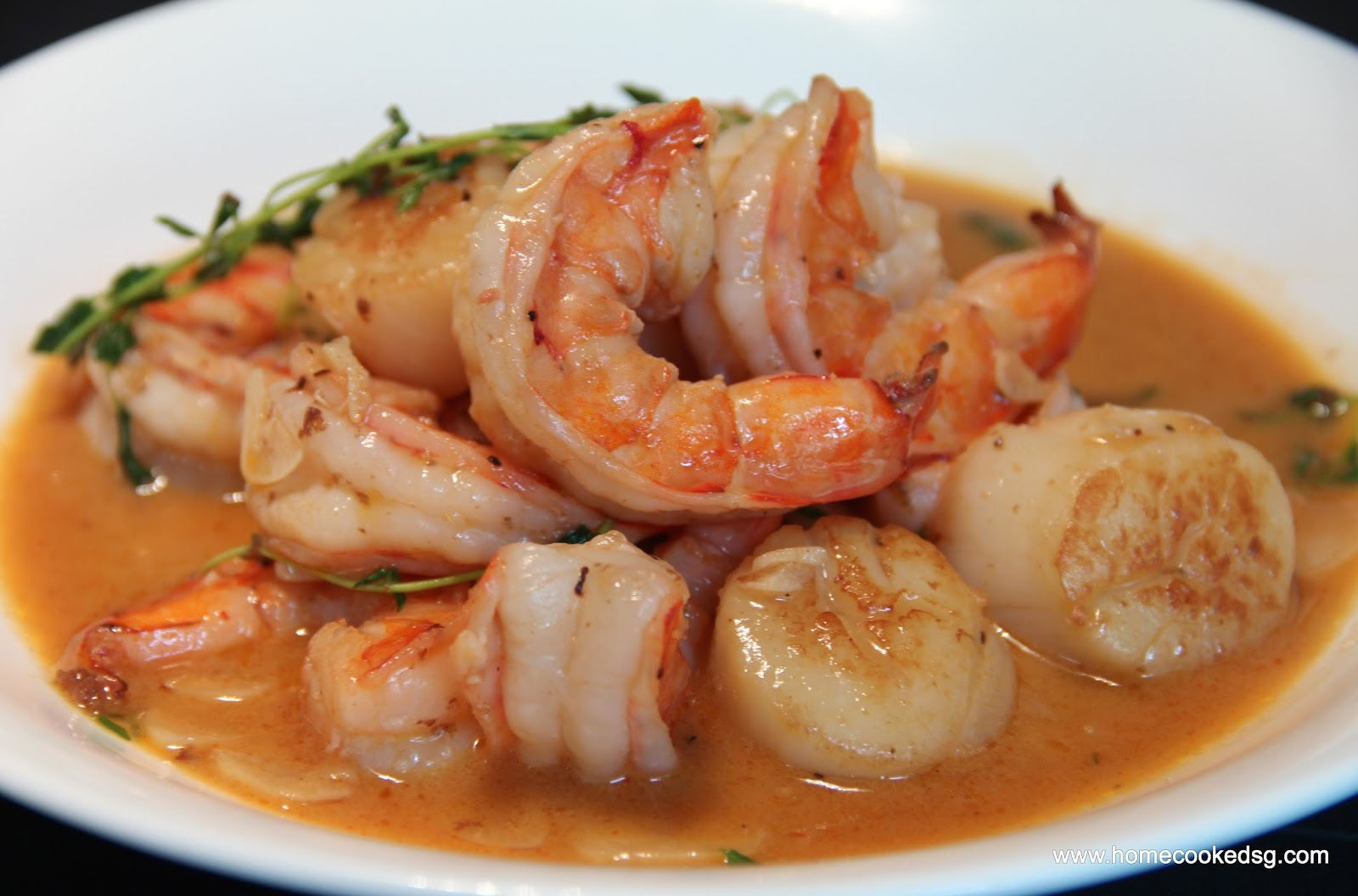 Red Shrimp Coconut Curry